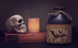 Bat Skull Candle Left Wing