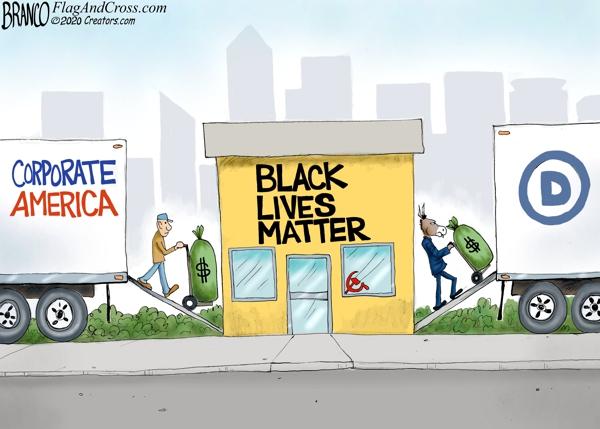 Corporate Money Matters Political Cartoon