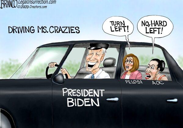 Joe Biden, Nancy Pelosi, and AOC