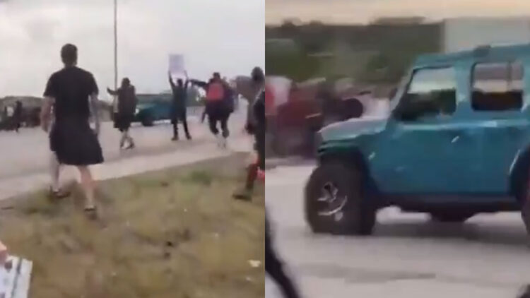 Armed Protester Shot At Vehicle And Hits Two Fellow Protesters