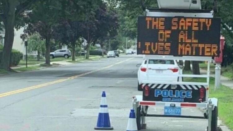 all lives matter road sign hate speech